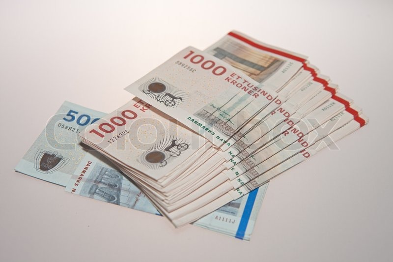 Danish money banknote and coins stock photo colourbox Cuisine a 10000 euros