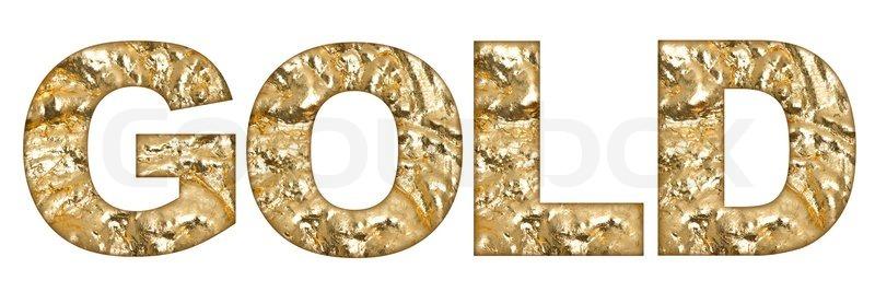 in capital golden letter written word gold golden alphabet stock