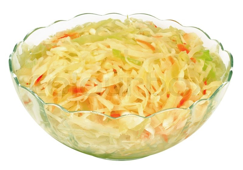 Соленая капуста на салат
