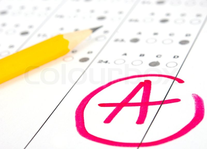 School and Education Test paper with result | Stock Photo | Colourbox