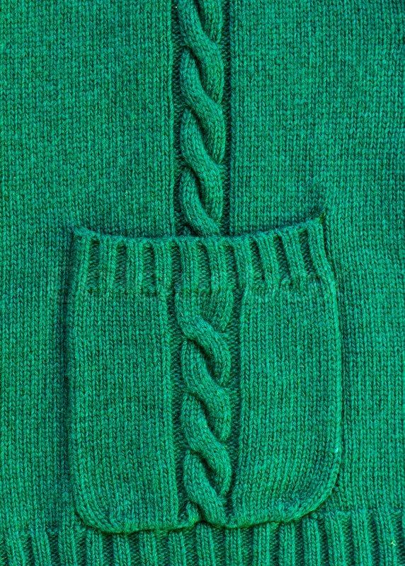 Как сделать карманы на вязаной кофте