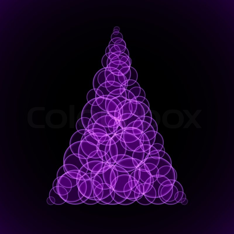 abstraction purple christmas tree on black background illustration designer stock photo colourbox - Purple Christmas Tree