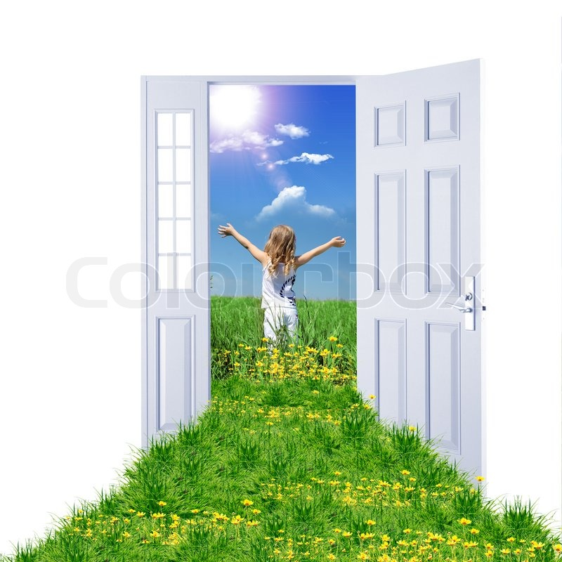 Picture of a open door leading to summer landscape | Stock Photo | Colourbox  sc 1 st  Colourbox & Picture of a open door leading to summer landscape | Stock Photo ...