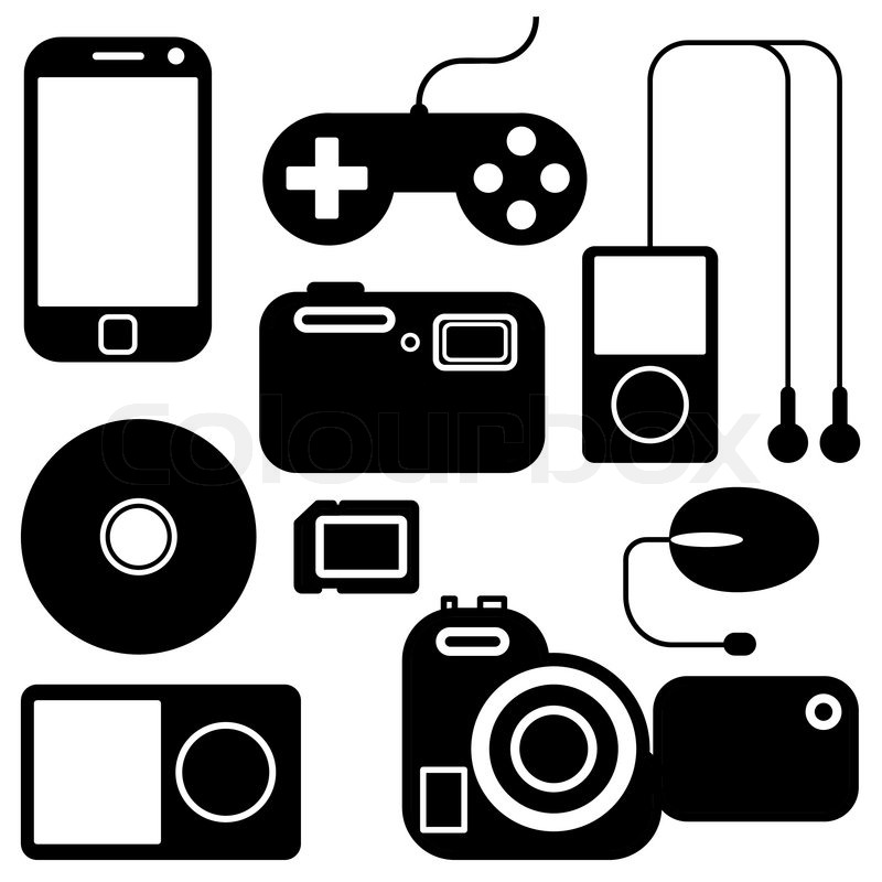 Icon set of electronic gadgets | Stock Vector | Colourbox