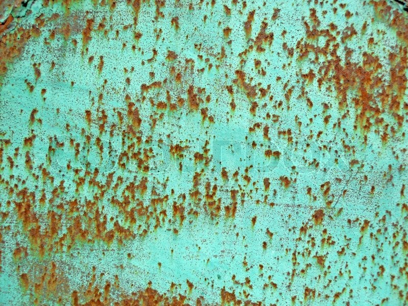 Texture Of An Rusty Metal Painted In Blue Color