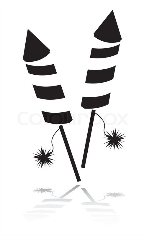 black fireworks icon isolated on white stock vector colourbox rh colourbox com Fireworks White Background Fireworks Clip Art