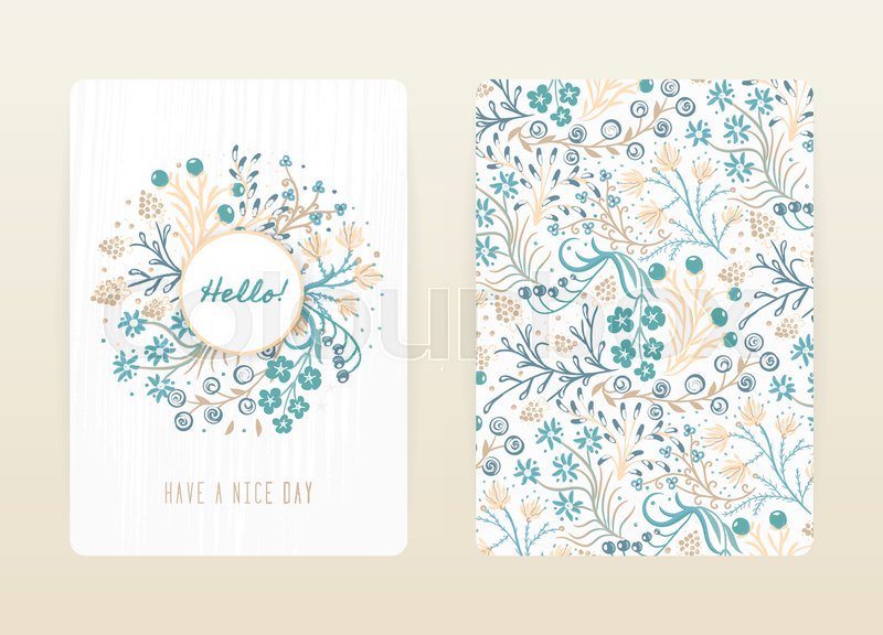 Cover design with floral pattern hand drawn creative flowers cover design with floral pattern hand drawn creative flowers colorful artistic background with blossom it can be used for invitation card cover book stopboris Gallery
