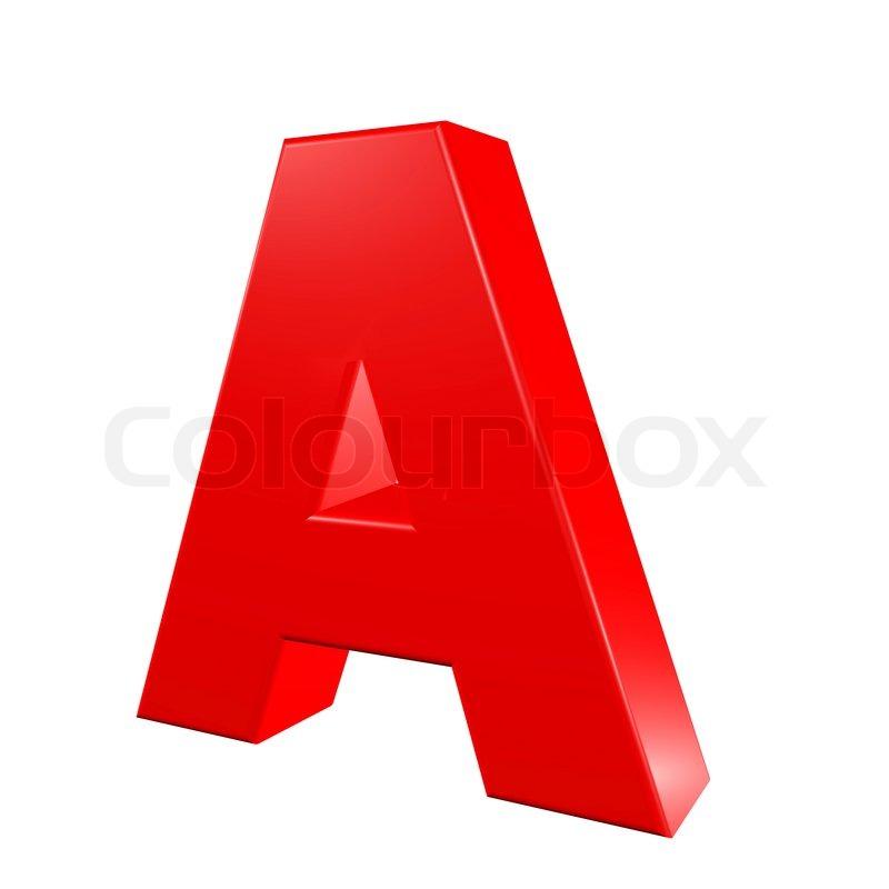 A Alphabet Images Red alphabet - A | Sto...