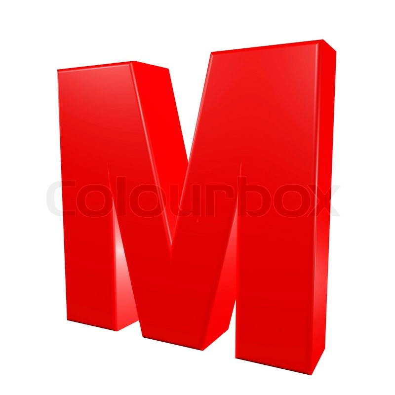 Stock image of 'Red alphabet - M'