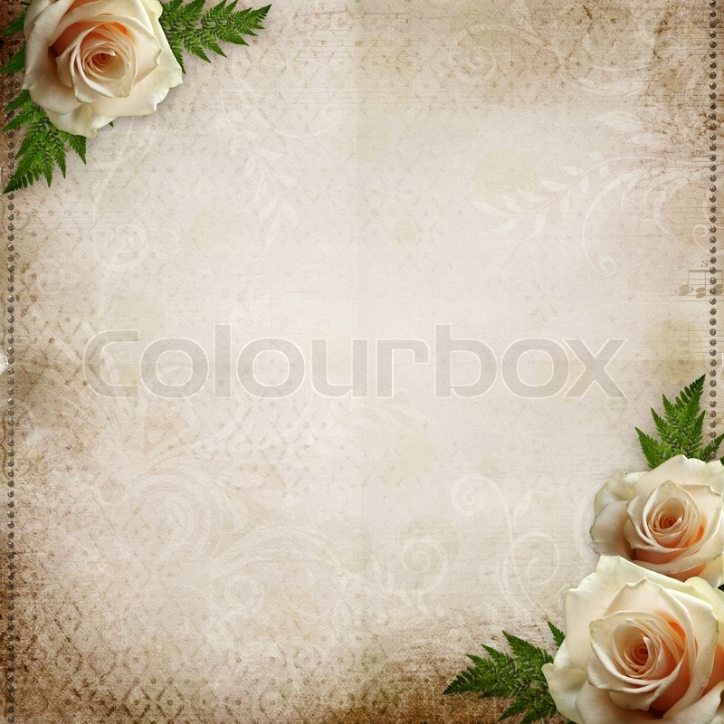 Old paper background with roses stock photo colourbox old paper background with roses stock photo stopboris Choice Image