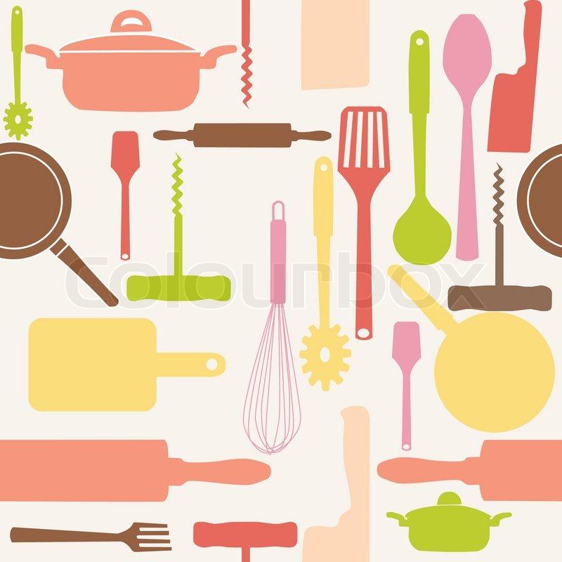 Kitchen Utensils Wallpaper kitchen utensils cartoon ~ crowdbuild for .