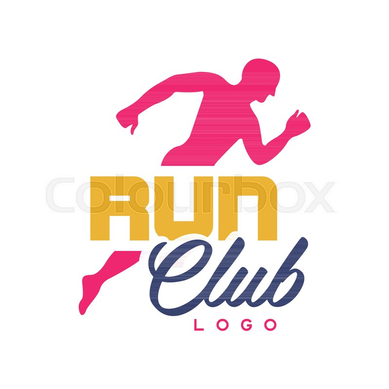 Run Club Logo Template , Emblem With ...