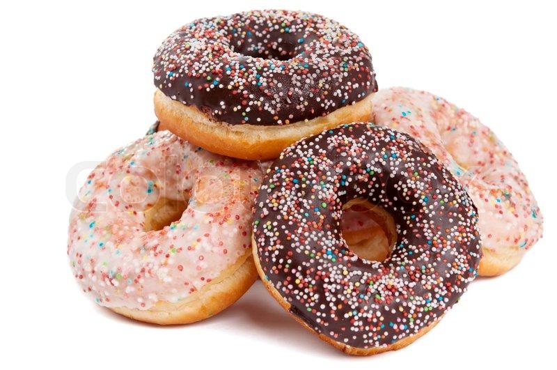 Donut glaze on a white background | Stock Photo
