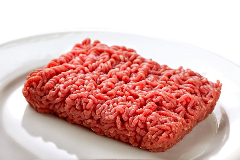 Close up raw ground beef | Stock Photo | Colourbox