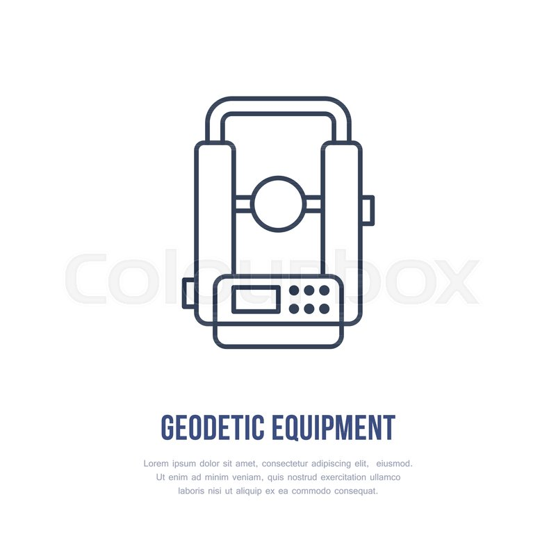Stock Vector Of Theodolite Geological Survey Engineering Flat Line Icon Geodetic Equipment
