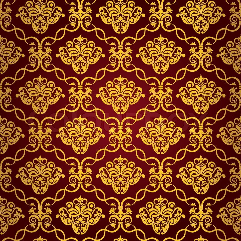 Red and gold christmas decorations wallpaper - Red Seamless Wallpaper Pattern Stock Vector