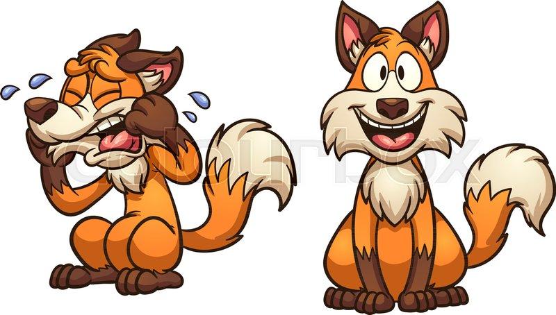Cartoon Happy And Sad Fox Vector Clip Stock Vector Colourbox