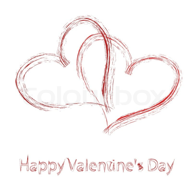 Vector St Valentine days greeting card Vector – Saint Valentine Card