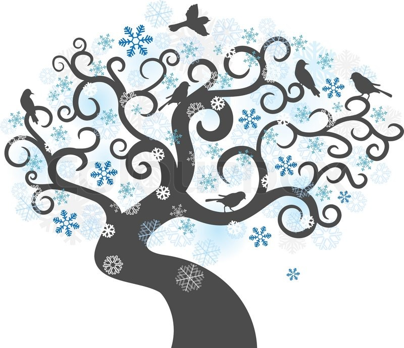 Abstract Winter Tree Background Stock Vector Colourbox Record and instantly share video messages from your browser. abstract winter tree background