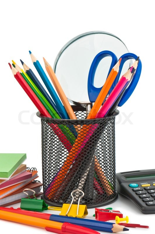 stationary appliances for office school and home stock photo