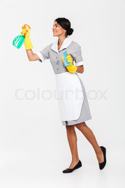 Full Length Photo Of Young Brunette Stock Photo