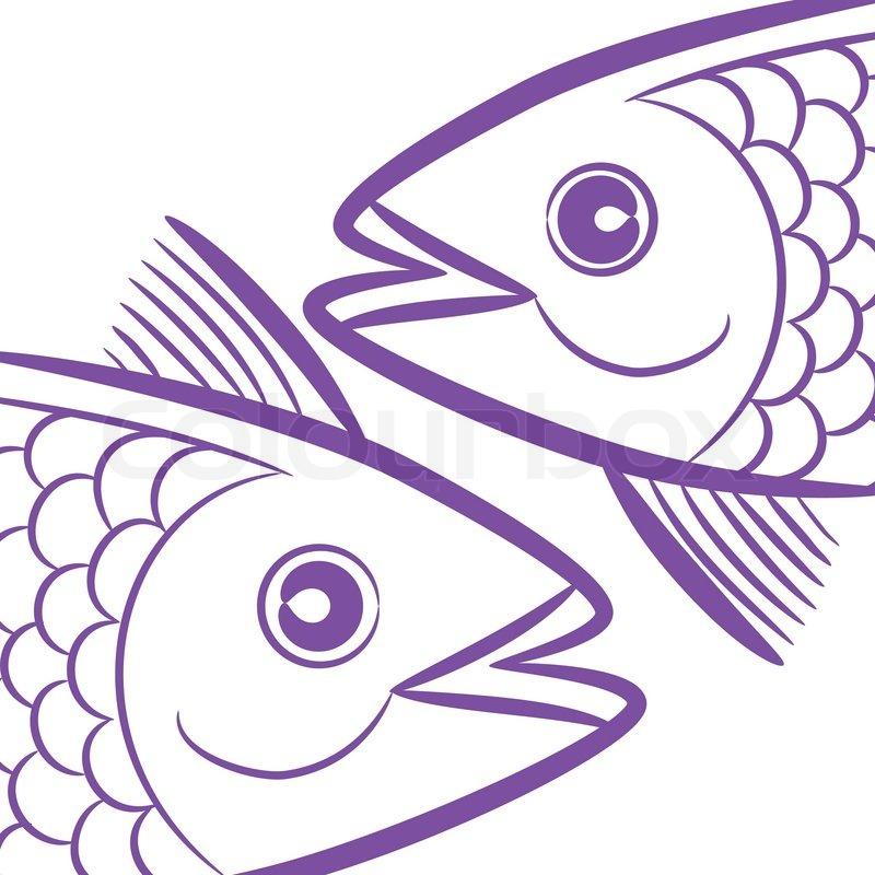 Zodiac Signs Logo Pisces Fish Head Tattoo Icon Symbol Isolated