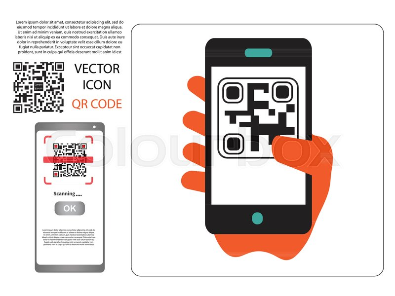 Vector design (QR barcode cannot be scanned) payment ...