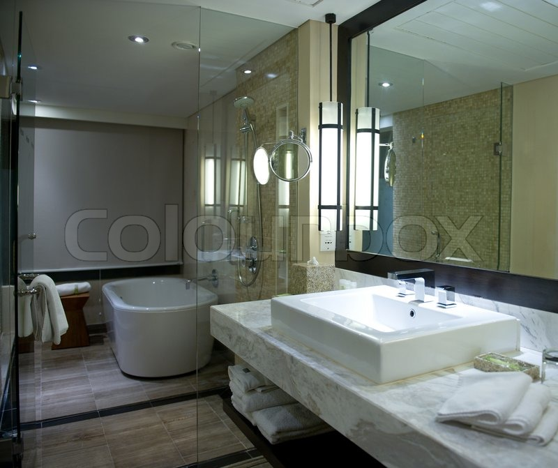 bathroom ambient lighting interior of modern bathroom with ambient light stock 10198