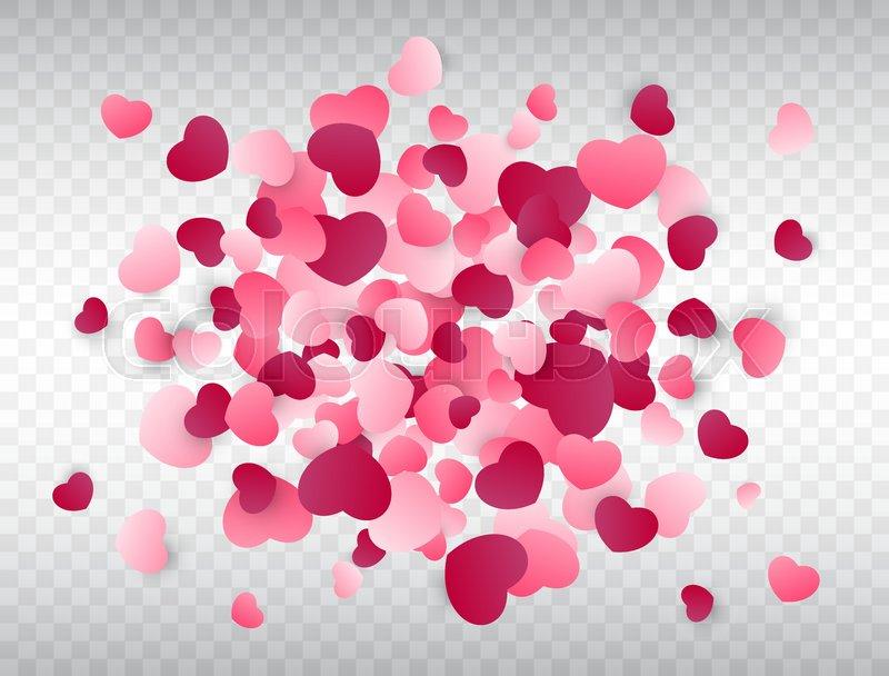 heart confetti splash love background pink confetti texture