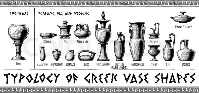 Typology Of Greek Vase Shapes Perfume Oil Wedding Vessels And