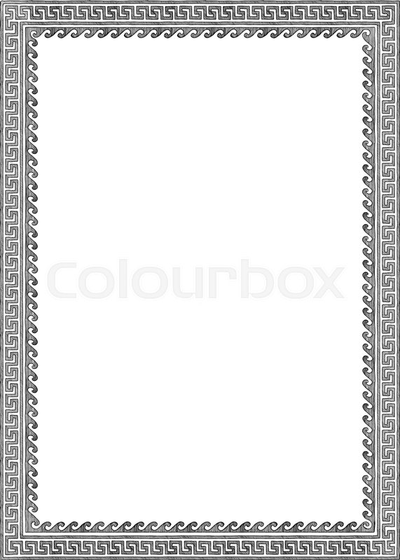 Frame With Traditional Ancient Greek Border Meander