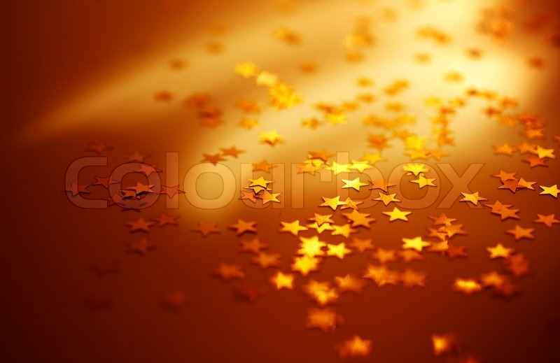 Christmas Holiday Background Photograph By Anna Om: Red Holiday Background With Shiny Gold Stars, Christmas