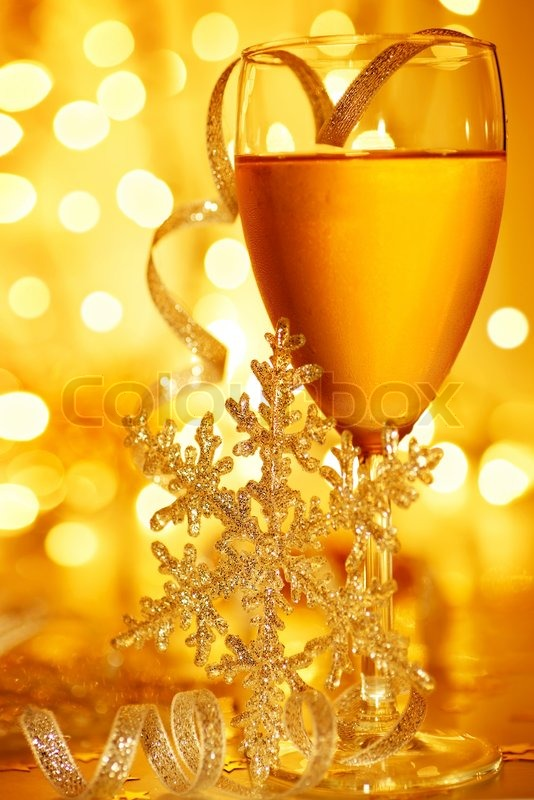 Romantic holiday drink, celebration of Christmas or new ...