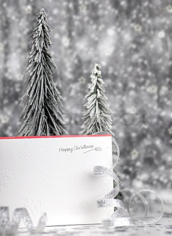 Happy Holiday Christmas Card Background Stock Photo