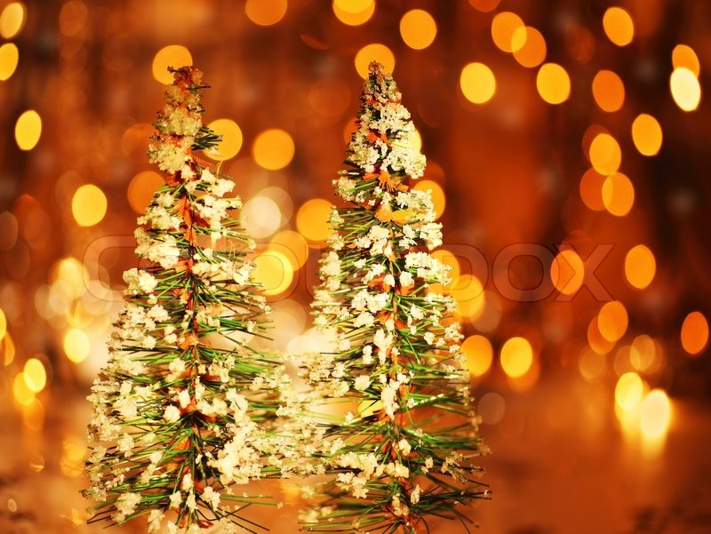 Christmas Tree Holiday Background With Winter Ornament