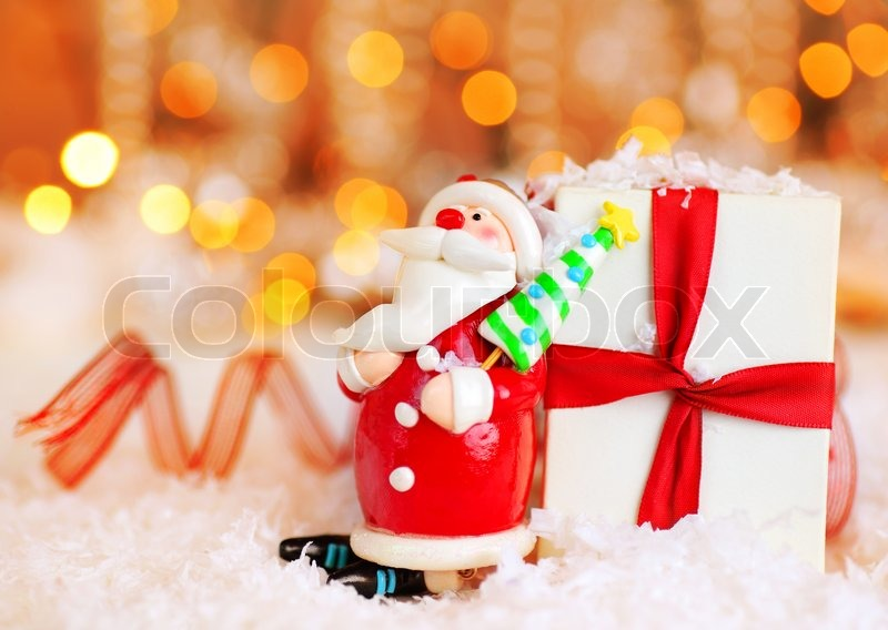 Christmas Holiday Background Photograph By Anna Om: Holiday Background With Cute Santa ...
