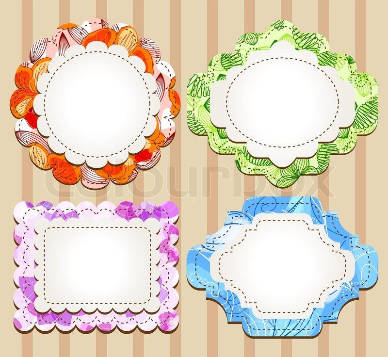 Set of cute scrapbooking frames | Stock Vector | Colourbox