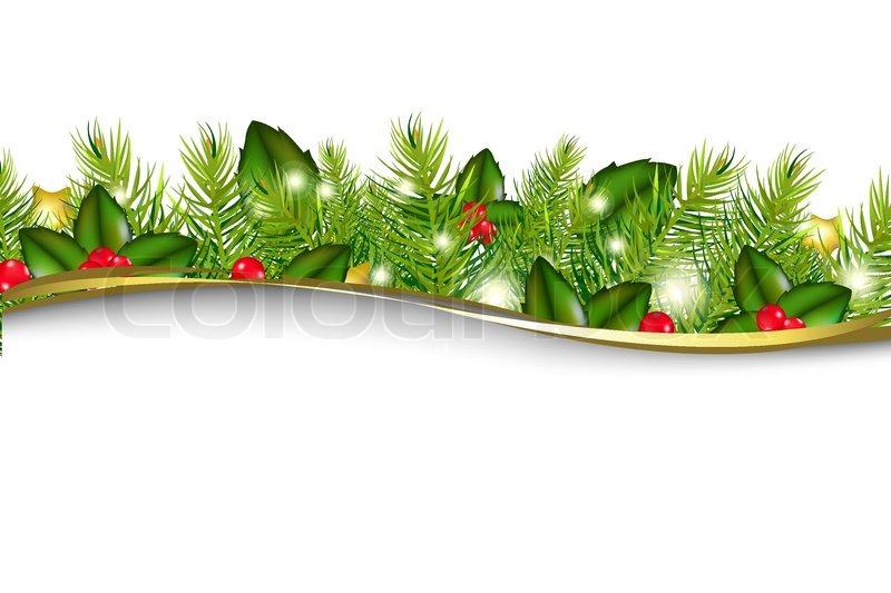 Merry Christmas Wreath Isolated On Stock Vector Colourbox