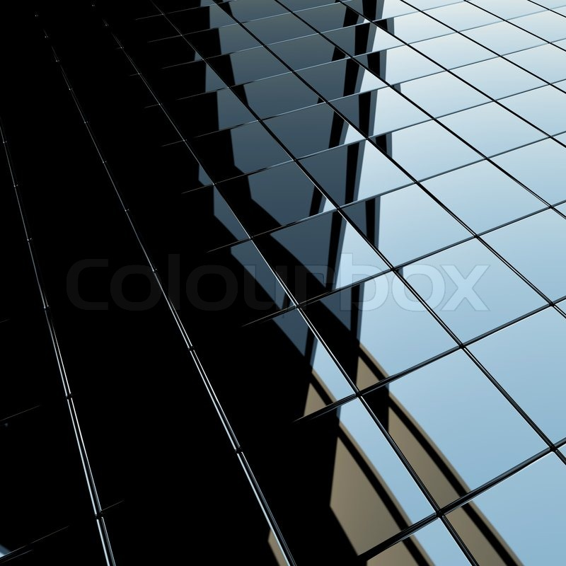 Background Made Of Black Flat Glossy Cubes With Strong