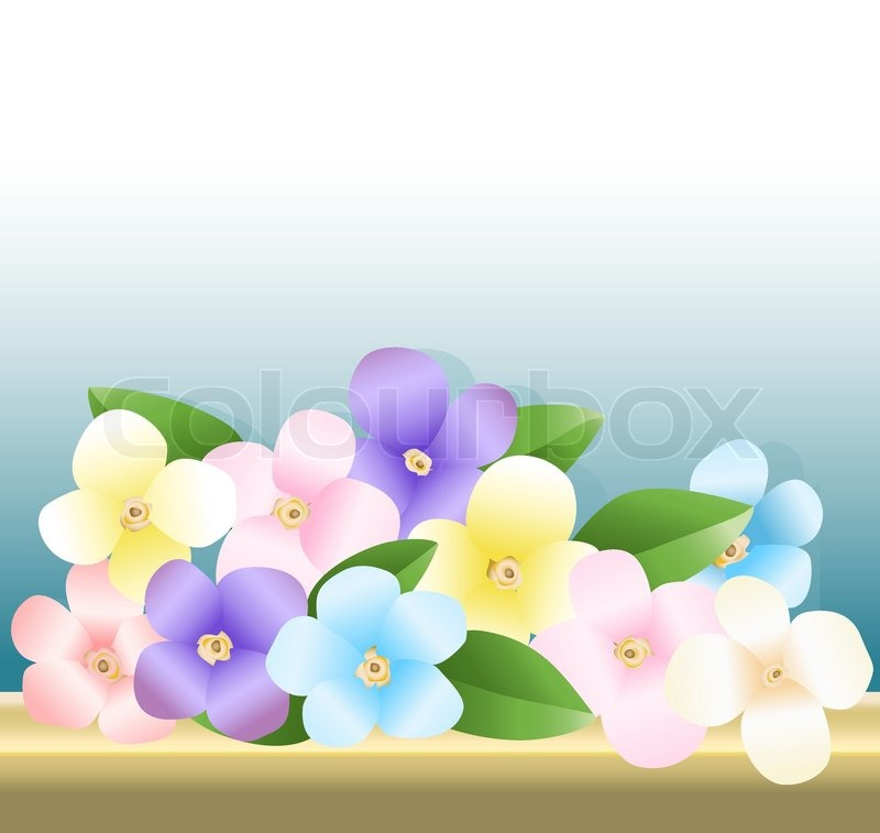 Stock vector of 'Illustration of bouquet of flowers on the table'