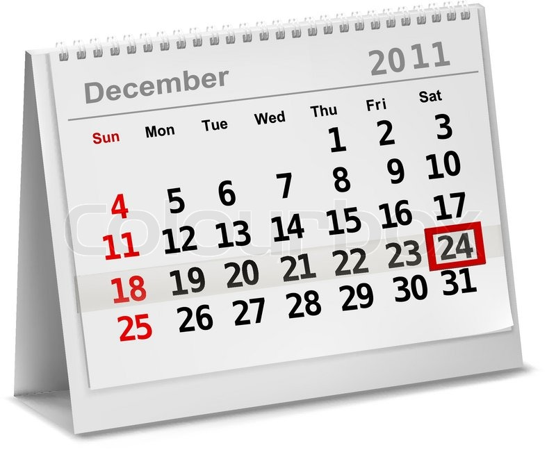 a date circled on a calendar with red ink vector illustration