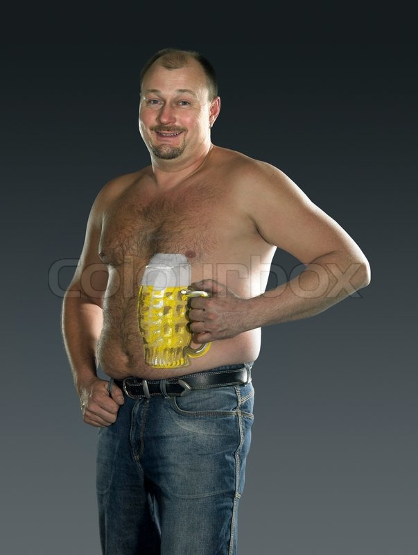 beer belly man nude