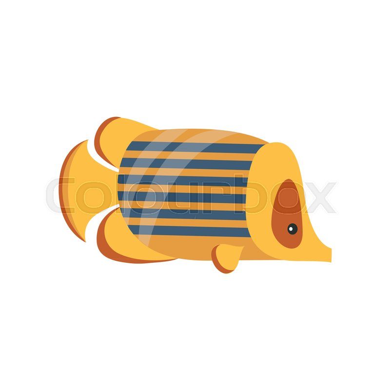 Ancient Golden Fish Symbol Of Traditional Egyptian Culture Cartoon