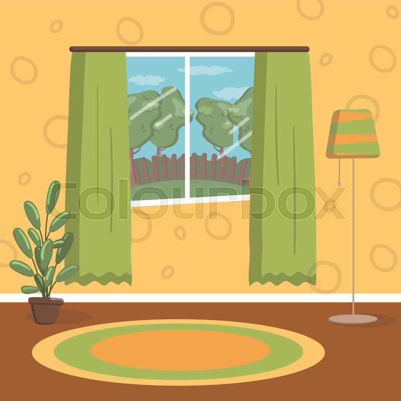 Remarkable Retro Living Room Vintage Cozy Home Stock Vector Download Free Architecture Designs Fluibritishbridgeorg
