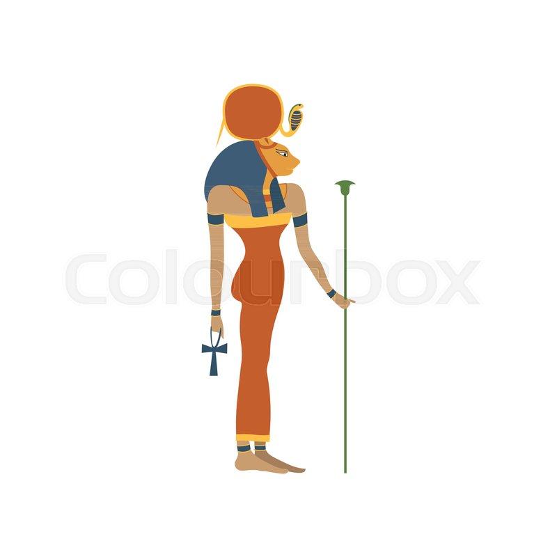 Hathor Ancient Goddess Of Love Symbol Of Traditional Egyptian