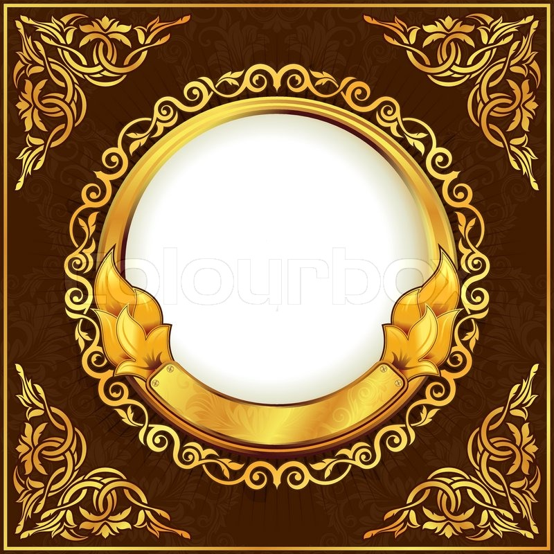 Gold frame with ornamental border | Stock Vector | Colourbox