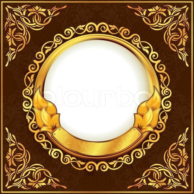 Round Gold Picture Frame Round Designs
