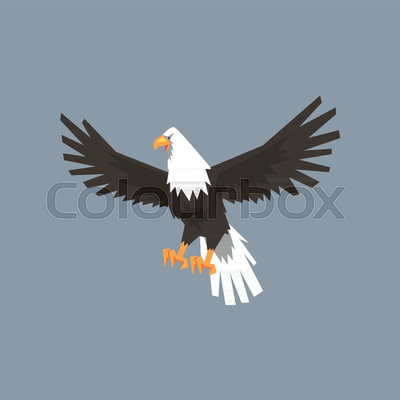 North American Bald Eagle Character Feathered Symbol Of Freedom And
