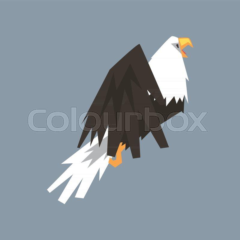North American Bald Eagle Character Symbol Of Usa Vector