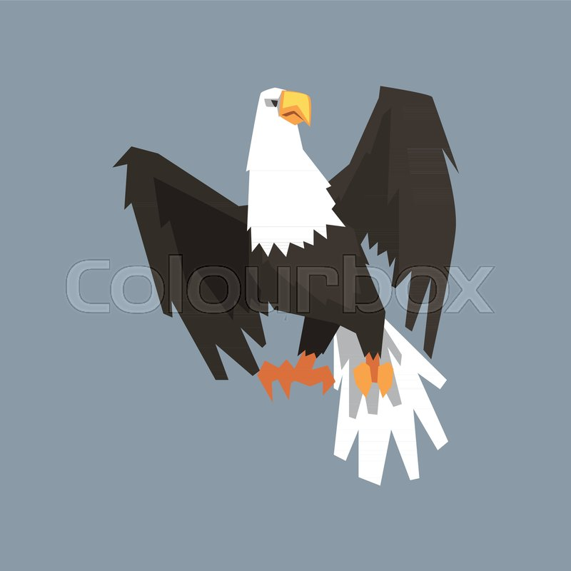 North American Bald Eagle Symbol Of Usa Vector Illustration